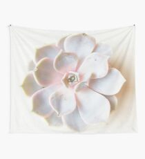 Pink Succulent II Wall Tapestry