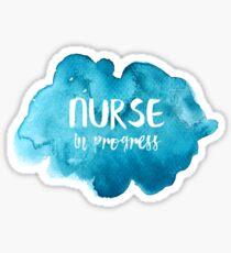 Nurse in Progress Sticker