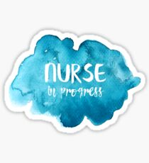 Nurse in Progress Sticker