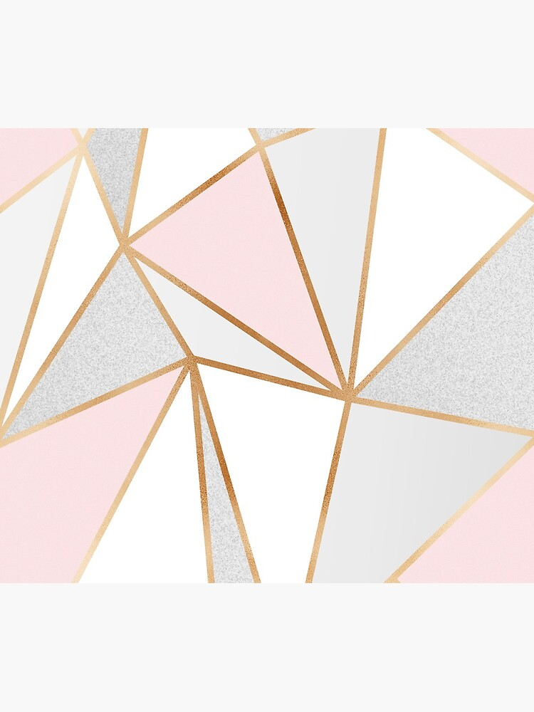 Pink, Grey & Gold Geo by Blue-Banana