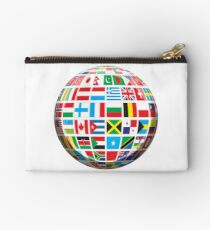 World, Flags of the Globe, Flags, Globe, Peace, Global Studio Pouch