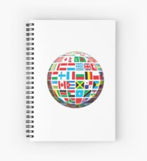World, Flags of the Globe, Flags, Globe, Peace, Global Spiral Notebook
