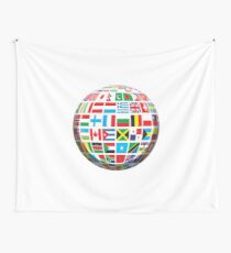 World, Flags of the Globe, Flags, Globe, Peace, Global Wall Tapestry