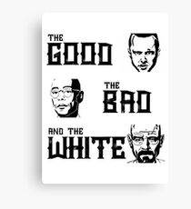 The good, the bad and the White Canvas Print