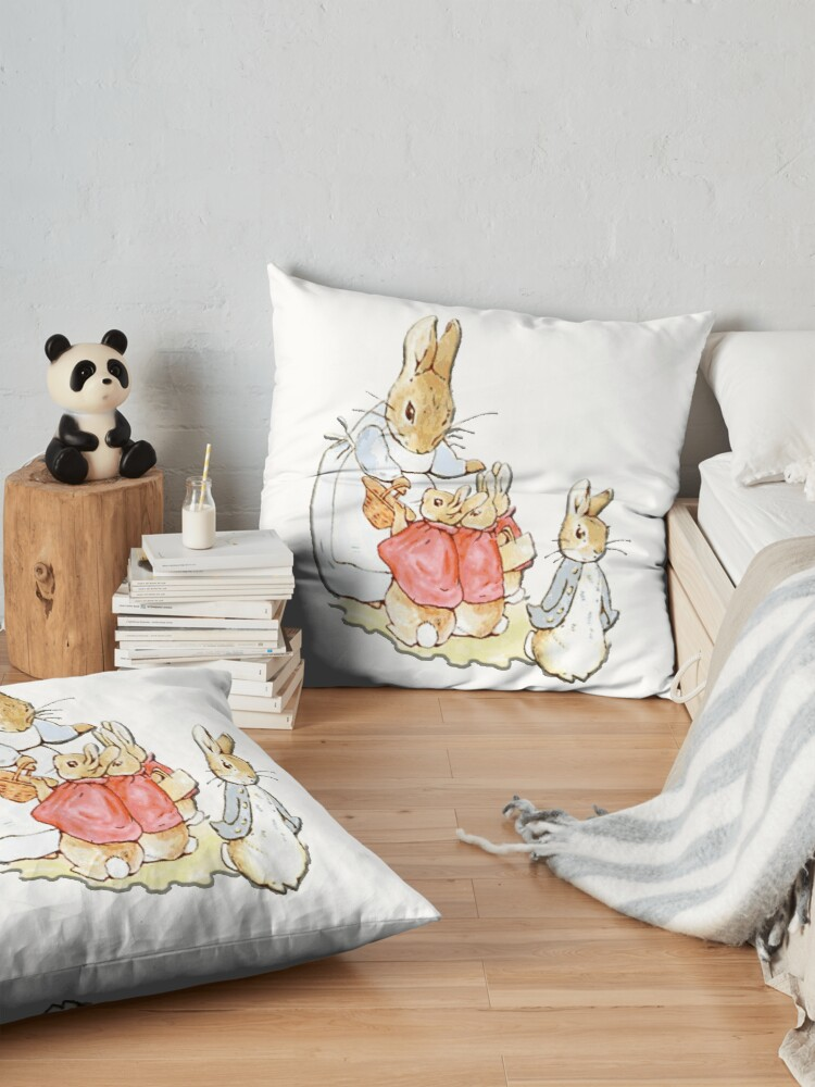 Vista alternativa de Cojines de suelo Personajes infantiles, Peter Rabbit, Beatrix Potter