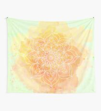 Watercolor Mandala Wall Tapestry