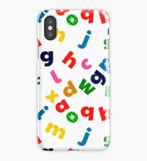 colorful alphabet iPhone Case/Skin