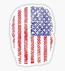 Stars and Stripes thumbprint Sticker
