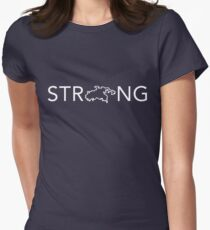 STJ - Strong (In White) Women's Fitted T-Shirt