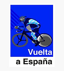 VUELTA a ESPANA : Vintage Bicycle Racing Advertising Print Photographic Print