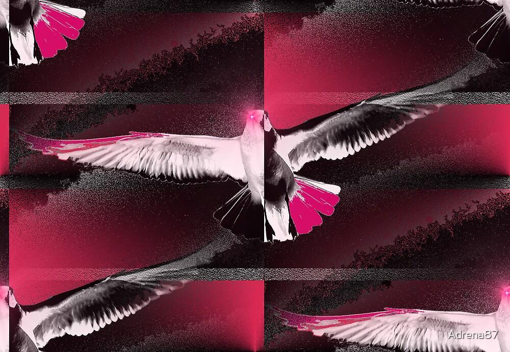 Flight of Night Hawk by Adrena87