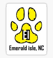 Dog Paw  (Emerald Isle, NC) Sticker