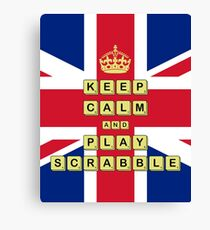 Keep Calm And Play Board Games Canvas Print