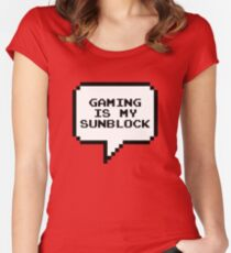 Gaming is my sunblock Women's Fitted Scoop T-Shirt