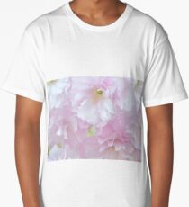 Blossoms in Pastel Pink Long T-Shirt