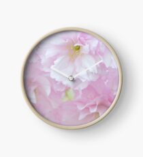 Blossoms in Pastel Pink Clock