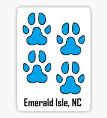 Dog Paws  (Emerald Isle, NC) Sticker
