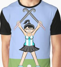 Argentine hockey team girl with winning attitude Graphic T-Shirt