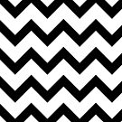 Simple Black and white Chevron pattern by PLdesign