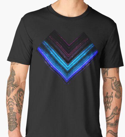 Sparkly metallic blue and purple galaxy lines Men's Premium T-Shirt