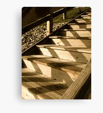 Shadows on the Stairs Canvas Print