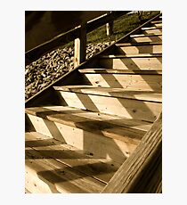 Shadows on the Stairs Photographic Print