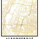 ALBUQUERQUE NEW MEXICO CITY STREET MAP ART by deificusArt