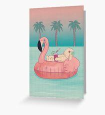 Summer Holiday Rabbit Greeting Card