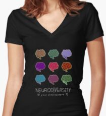 Neurodiversity Positivity Women's Fitted V-Neck T-Shirt