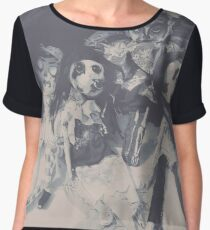 """walls of dolls"" Women's Chiffon Top"