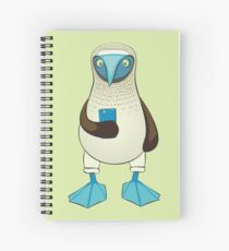 Blue-footed Booby with Phone Spiral Notebook