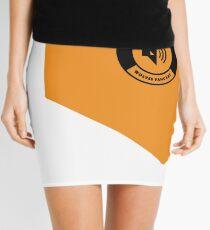 Golden square logo Mini Skirt