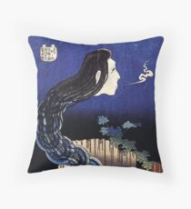 HOKUSAI, A Woman Ghost Appeared From A Well Floor Pillow