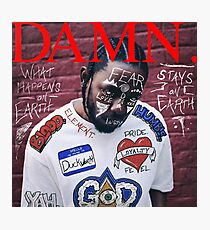 Kendrick Lamar - DAMN. Alternate Album Cover Art Abstract Edit  Photographic Print