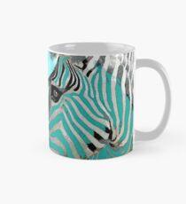 Zebra-Zusammenfassung BLAUES AQUA Tasse