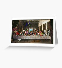 Last Monkey Supper Greeting Card