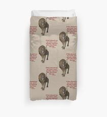 Lion Inspirational Confucius Quote Duvet Cover
