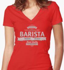 Original Barista Women's Fitted V-Neck T-Shirt
