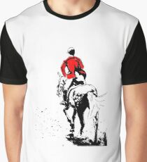 Horse and Rider - Red Jacket Graphic T-Shirt