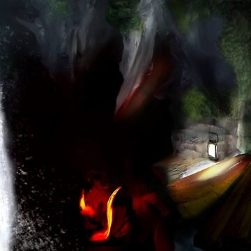 Cave system concept art  by DarrelLeigh