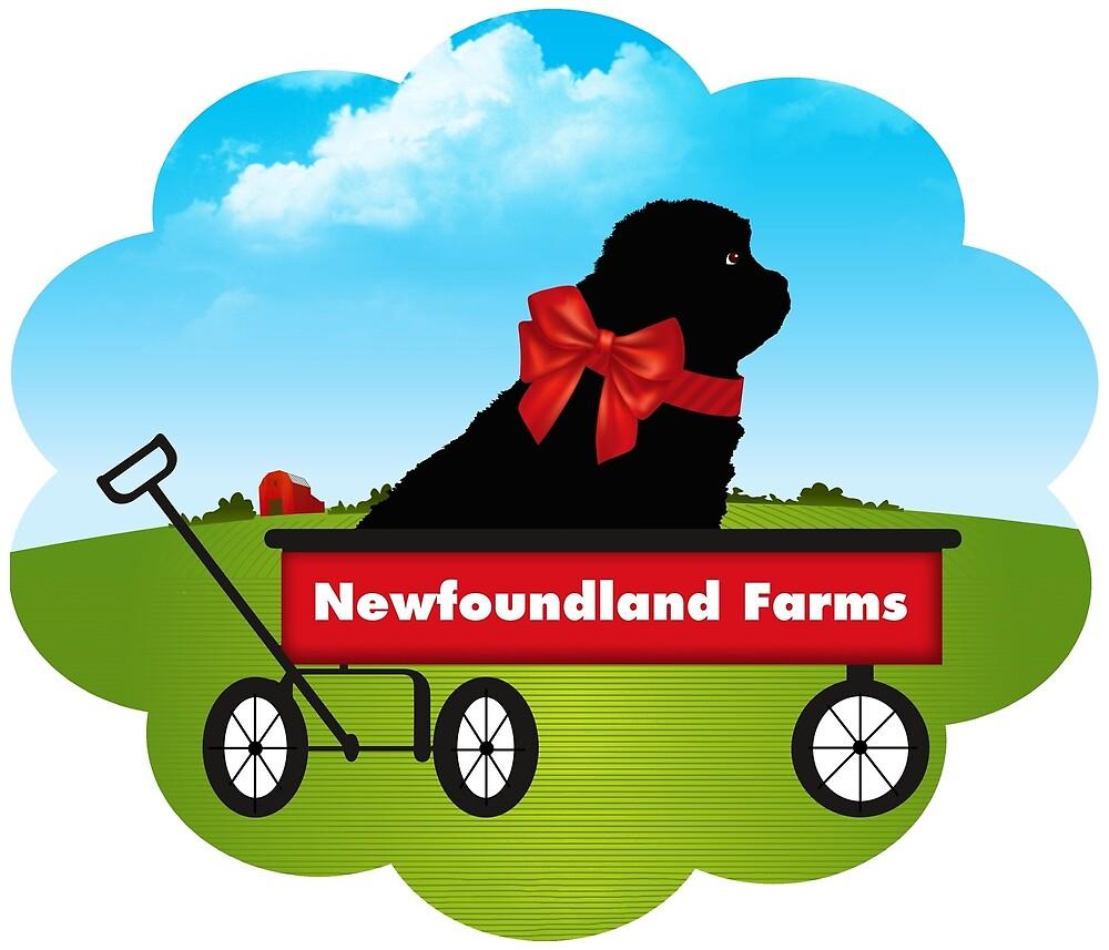 Newfoundland Farm Puppy by Christine Mullis