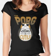Resistance Is Cutile Porg Women's Fitted Scoop T-Shirt