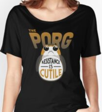 Resistance Is Cutile Porg Women's Relaxed Fit T-Shirt
