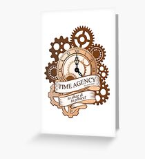 Time Agency Greeting Card