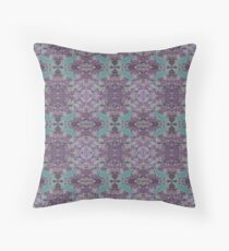 Purple Boho Teal Birds Throw Pillow