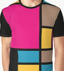 Mondrian style modern cool colors 1 Graphic T-Shirt