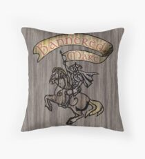 The Bannered Mare Throw Pillow