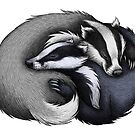 Badger Couple by Lyndsey Green