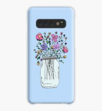 Mason Jar with Flowers Case/Skin for Samsung Galaxy