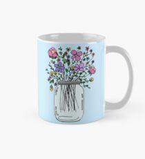 Mason Jar with Flowers Mug